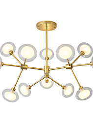 cheap -12 Bulbs LITBest 80 cm Chandelier Metal Glass Circle Painted Finishes Modern / Nordic Style 110-120V / 220-240V