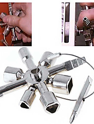cheap -10 in 1 multi cross switch plumber key wrench square trilateral steel universal