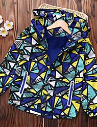 abordables -Enfants Garçon Basique Géométrique Imprimé Normal Veste & Manteau Violet