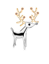 cheap -Women's Brooches Elk Stylish Simple Vintage Sweet Fashion Brooch Jewelry Silver For Christmas Party Gift Street Holiday
