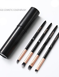 cheap -Professional Makeup Brushes 4 PCS Full Coverage Adorable Plastic for Eyeshadow Kit Makeup Brush Lip Brush Eyeshadow Brush