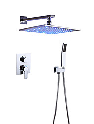 cheap -Shower Faucet - Contemporary Chrome Wall Mounted Ceramic Valve Bath Shower Mixer Taps