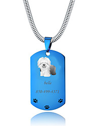 cheap -Personalized Customized Shepherd Dog Dog Tags Classic Gift Daily 1pcs Blue Gold Silver