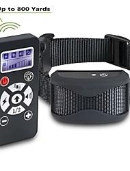 abordables -collier de dressage de chien de compagnie télécommande imperméable rechargeable lcd choc vibration son collier 181