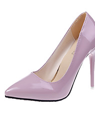 cheap -Women's Heels Stiletto Heel Pointed Toe Patent Leather / PU(Polyurethane) Fall / Spring & Summer Black / Wine / White / Party & Evening