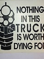 cheap -Unique Fashion Letters Design Car Sticker Warning Decals