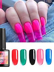 cheap -8ml Plastic bottle glass jelly glass glue nail dismountable phototherapy glue nail polish