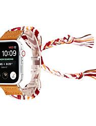 cheap -Knitting Wool Hand-Woven Wristband Bracelet Watch Band for Apple Watch 38/40mm 42/44mm Series 4 3 2 1 National Wind Hand-Woven Watch Strap