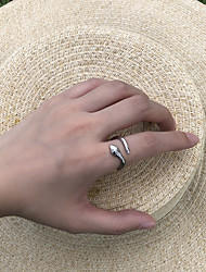 cheap -Women's Ring Open Ring 1pc Gold Silver Alloy Graduation Gift Jewelry