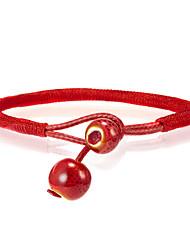 cheap -Women's Vintage Bracelet Earrings / Bracelet Loom Bracelet Braided Weave Korean Fashion Cute Elegant Colorful Cord Bracelet Jewelry Red For Daily