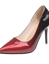 cheap -Women's Heels Stiletto Heel Pointed Toe Patent Leather / PU(Polyurethane) Fall / Spring & Summer Black / Red / Dark Purple / Yellow / Party & Evening