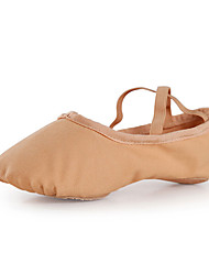 cheap -Women's Ballet Shoes Flat Flat Heel Pink Camel Lace-up