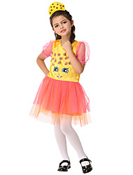 cheap -Princess Cosplay Costume Kid's Girls' Halloween Halloween Festival / Holiday Spandex Polyester / Polyamide Yellow Carnival Costumes