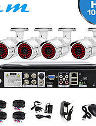cheap -4CH DVR With Screen Monitor Set Home Monitor 2 Million One Machine 4CH DVR Infrared Night Vision Camera