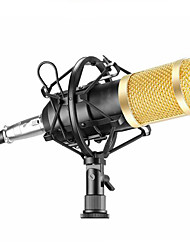 abordables -microphone dynamique à microphone filaire bm800 studio de son micro pour kit d'enregistrement de chant ktv karaoké avec support de choc 4 pièces