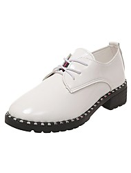 cheap -Women's Oxfords Low Heel PU Casual Summer Black / White / Daily