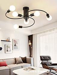 cheap -66 cm 6-Light Flush Mount Lights Ambient Light Painted Finishes Metal 110-120V 220-240V