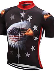 Недорогие -21Grams Американский / США Eagle Флаги Муж. С короткими рукавами Велокофты - Красный + синий Велоспорт Верхняя часть Дышащий Влагоотводящие Быстровысыхающий Виды спорта Терилен / Слабоэластичная