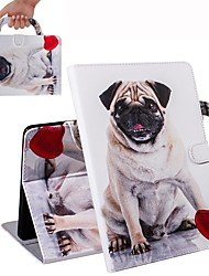 cheap -Case For iPad Air / iPad 4/3/2 / iPad (2018) Wallet / Card Holder / Shockproof Full Body Cases Pug PU Leather Case For iPad Air 2 / iPad (2017) / iPad Pro 9.7