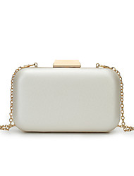 cheap -Women's PU / Alloy Evening Bag Solid Color Black / Blushing Pink / Gold