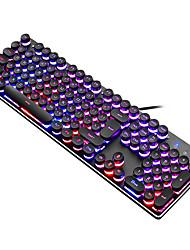 cheap -USB Wired RGB Backlit Gaming Keyboard Punk Style Metal Panel Gamer for Desktop