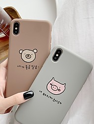 cheap -Case For Apple iPhone XS / iPhone XR / iPhone XS Max Shockproof / Pattern Back Cover Animal / Cartoon TPU