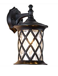 cheap -Wall Lamp Outdoor Waterproof Rustproof Wall Lantern with Net Cages Shade Antique Wall Sconces Landscape Light for Courtyard Corridor Bath Black