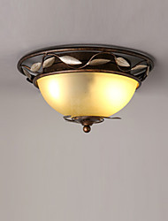 cheap -2-Light American Flush Mount Lights Antique Country Style Indoor Ambient Light Ceiling Light Painted Finishes Metal Ceiling Light Fixtures