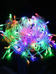 cheap -10m String Lights 100 LEDs 1pc Warm White / White / Red Creative / Party / Wedding 220 V