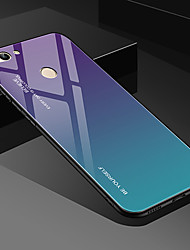 cheap -Case For Huawei Huawei P Smart 2019 / Huawei Y7 2019 / Huawei Y5 2019 Ultra-thin Back Cover Color Gradient Tempered Glass