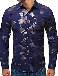 cheap -Men's Party Daily Shirt - Floral Black