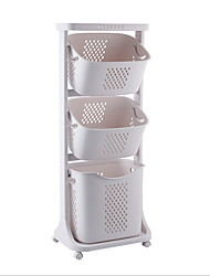 cheap -Laundry Basket Plastic Multi Layer Accessory 1 Shelf Household Storage Bags