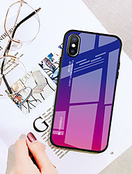 cheap -Case For Apple iPhone XS / iPhone XR / iPhone XS Max Ultra-thin Back Cover Color Gradient Tempered Glass