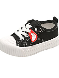 cheap -Boys' / Girls' Comfort Canvas Sneakers Toddler(9m-4ys) / Little Kids(4-7ys) Black / White / Yellow Summer / Rubber