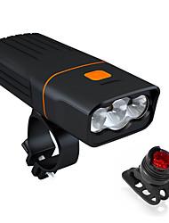 Недорогие -Светодиодная лампа Велосипедные фары Передняя фара для велосипеда LED Велоспорт Велоспорт Водонепроницаемый Вращающийся Портативные Быстросъемный Литий-ионная аккумуляторная батарея 2400 lm