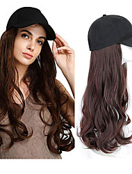 cheap -Synthetic Wig Synthetic Extentions Wavy Free Part Wig Medium Length Black#1B Chestnut Brown Dark Brown Medium Brown Synthetic Hair 24 inch Women's Best Quality New New Arrival Black White Laflare