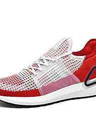 cheap -Men's Loafers & Slip-Ons Sporty Daily Running Shoes Walking Shoes Tissage Volant Non-slipping Black and White Black Red Fall Spring