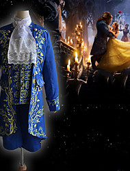 cheap -Prince The Beast and Beauty Vintage Inspired Medieval Outfits Masquerade Men's Costume Blue Vintage Cosplay Party Halloween Long Sleeve / Coat / Vest / Shirt / Pants / Collar