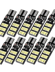 cheap -10PCS T10 W5W 30SMD LED Car Side Marker Lights Wedge Bulb Lamp with 3 Flash Modes 6W 240LM White