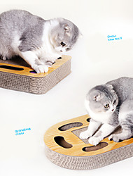 cheap -Scratching Board Tracker Cat Pet Toy 1pc Multilayer Focus Toy Cardboard Paper Gift