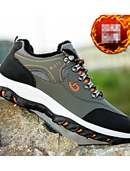 cheap -Men's Comfort Shoes PU Fall Athletic Shoes Hiking Shoes Black / Light Green / Yellow