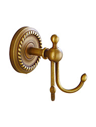 cheap -Robe Hook Creative Antique / Traditional Brass / Stainless Steel / Iron Bathroom / Hotel bath Wall Mounted