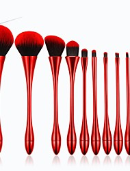 cheap -Professional Makeup Brushes 10pcs Professional Creative New Design Sexy Lady Synthetic Hair Plastic for Makeup Brush