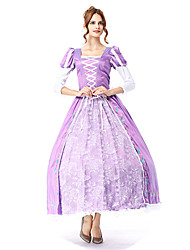 cheap -Princess Cosplay Costume Masquerade Adults' Women's Cosplay Halloween Halloween Festival / Holiday Cotton / Polyester Blend Purple Women's Carnival Costumes