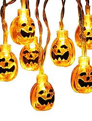 Недорогие -Брелонг Хэллоуин тыква огни фонари 1.5м 10 светодиодные тыквы огни 3d Джек o фонарь Хэллоуин тыква огни декор в помещении идеи вечеринки на открытом воздухе 1 упак