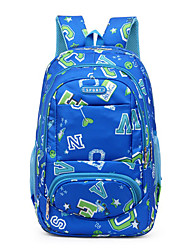 cheap -Large Capacity Oxford Cloth Nylon Zipper School Bag Color Block Daily Black / Fuchsia / Royal Blue / Girls'
