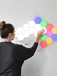 cheap -6Pcs Quantum Lamp LED Hexagonal Modular Touch Sensitive Quantum Lighting Night Light Magnetic Hexagons Creative Wall Decoration