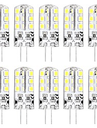 cheap -10PCS MINI G4 LED Bulb 3W 24 LED Beads SMD 2835 Equivalent to G4 Halogen Bulb 30W  Warm white 3000K Daylight White 6000K G4 Base DC12V  AC220V