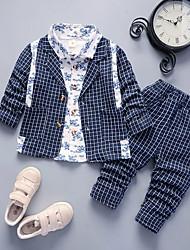 Недорогие -малыш Мальчики Классический / Шинуазери (китайский стиль) С принтом С принтом Длинный рукав Обычный Обычная Набор одежды Винный
