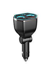 cheap -New car charger A21Q digital display zhitong car charger dual usb pd quick charge car charger qc3.0 car charger 5.4a